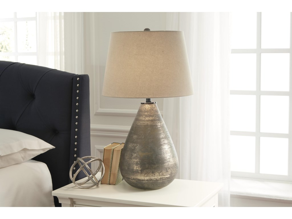 Ashley (Signature Design) Lamps - Vintage StyleTabler Glass Table Lamp