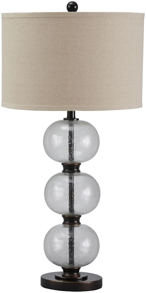 Signature design by ashley lamps vintage style maleko glass table lamp