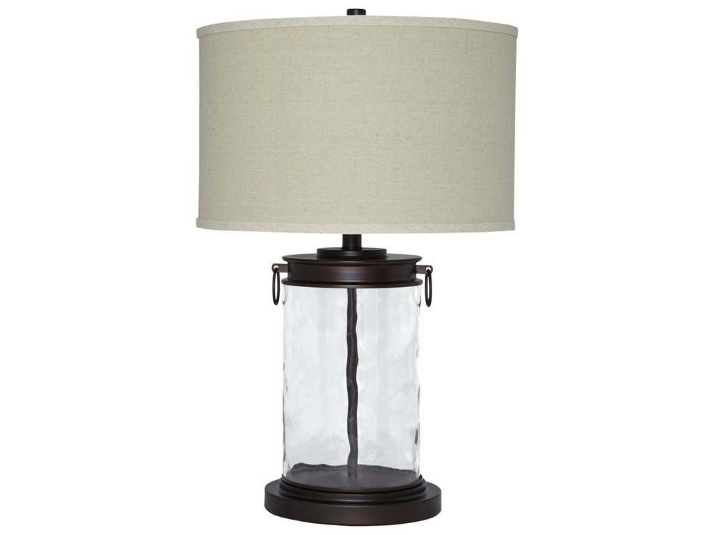 Signature Design by Ashley Lamps - Vintage StyleTailynn Clear/Bronze Finish Glass Table Lamp