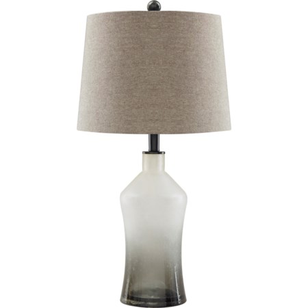 Set of 2 Nollie Gray Glass Table Lamps