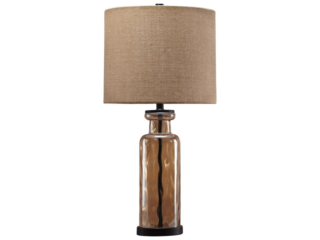 Signature Design by Ashley Lamps - Vintage StyleLaurentia Champagne Glass Table Lamp