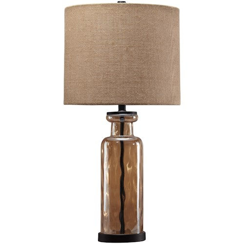 Signature Design by Ashley Lamps - Vintage Style Laurentia Champagne Glass Table Lamp