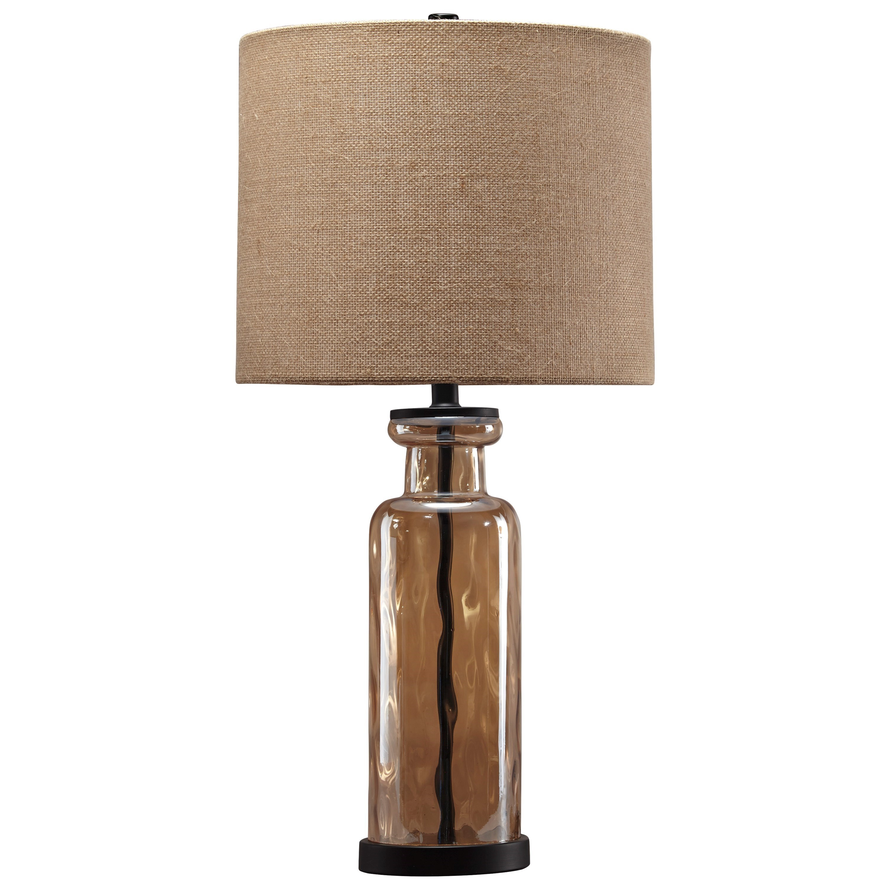 Signature Design By Ashley Lamps   Vintage StyleLaurentia Champagne Glass  Table Lamp ...