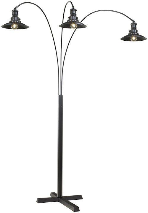 Signature design by ashley lamps vintage style metal arc lamp