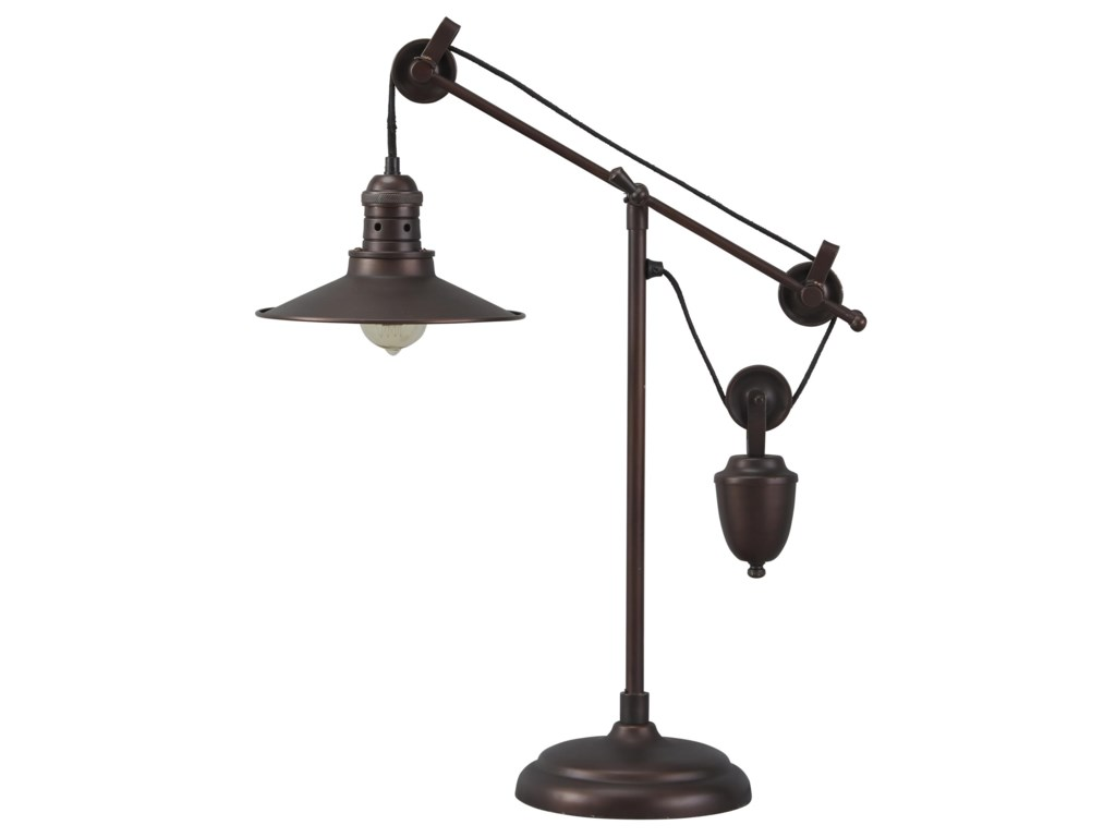 Signature Design by Ashley Lamps - Vintage StyleKylen Metal Desk Lamp