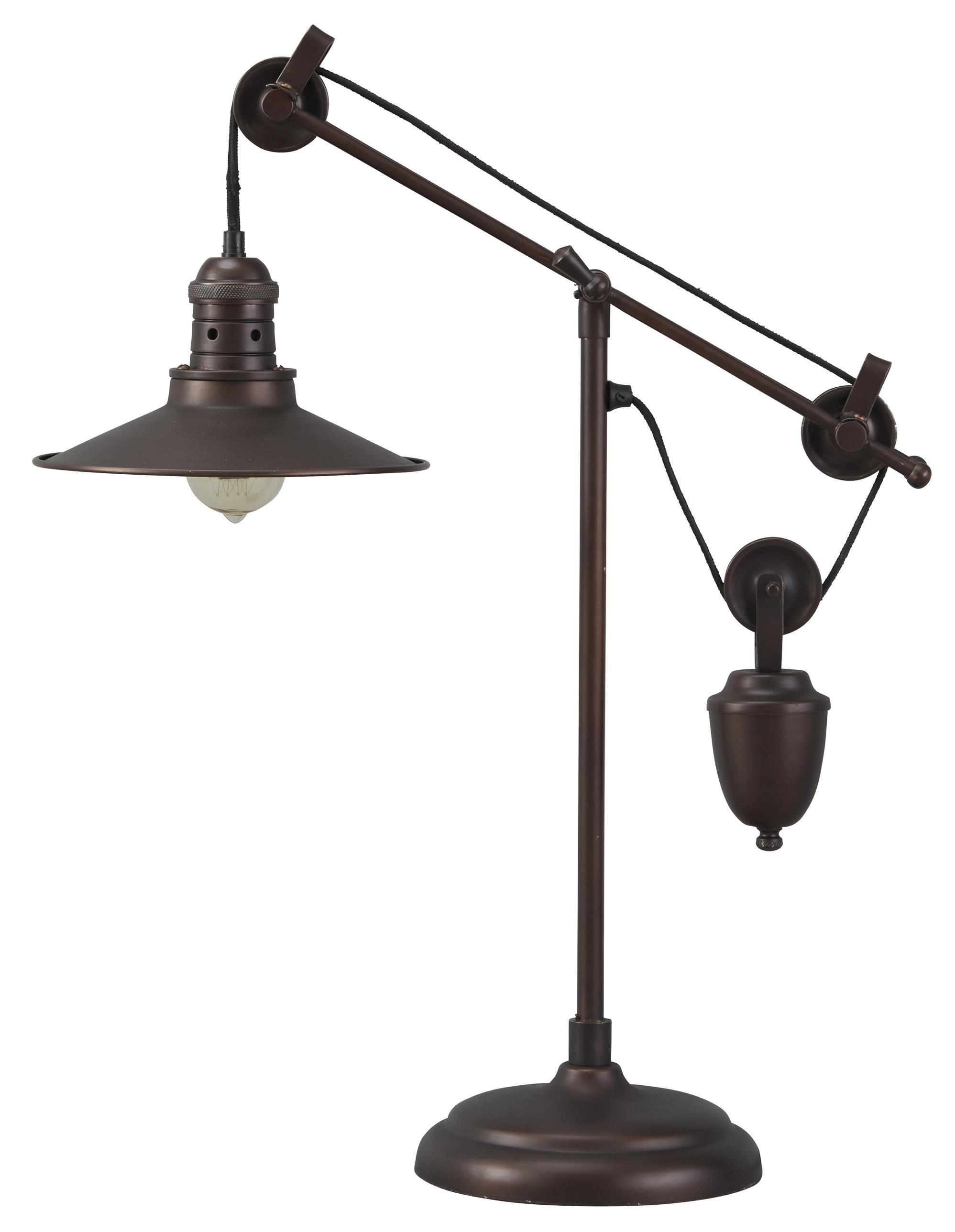 Oil Rubbed Bronze Wall Sconce Option Style Lamps - Vintage Style Kylen Metal Desk Lamp by Ashley Signature Design