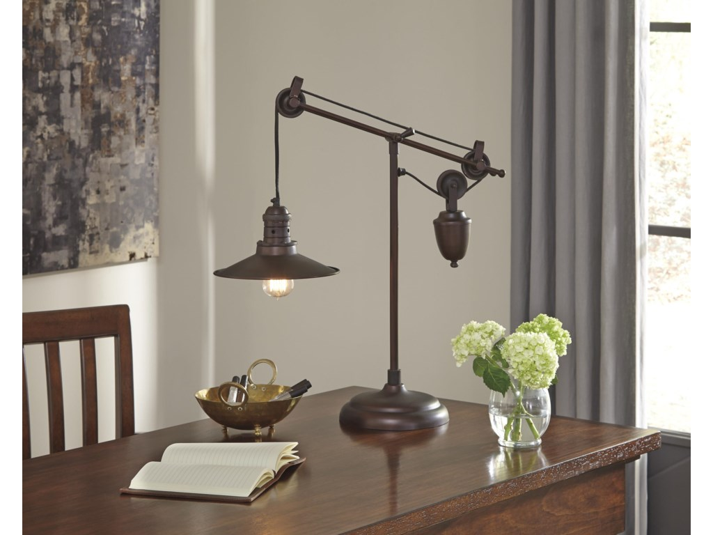 Ashley (Signature Design) Lamps - Vintage StyleKylen Metal Desk Lamp