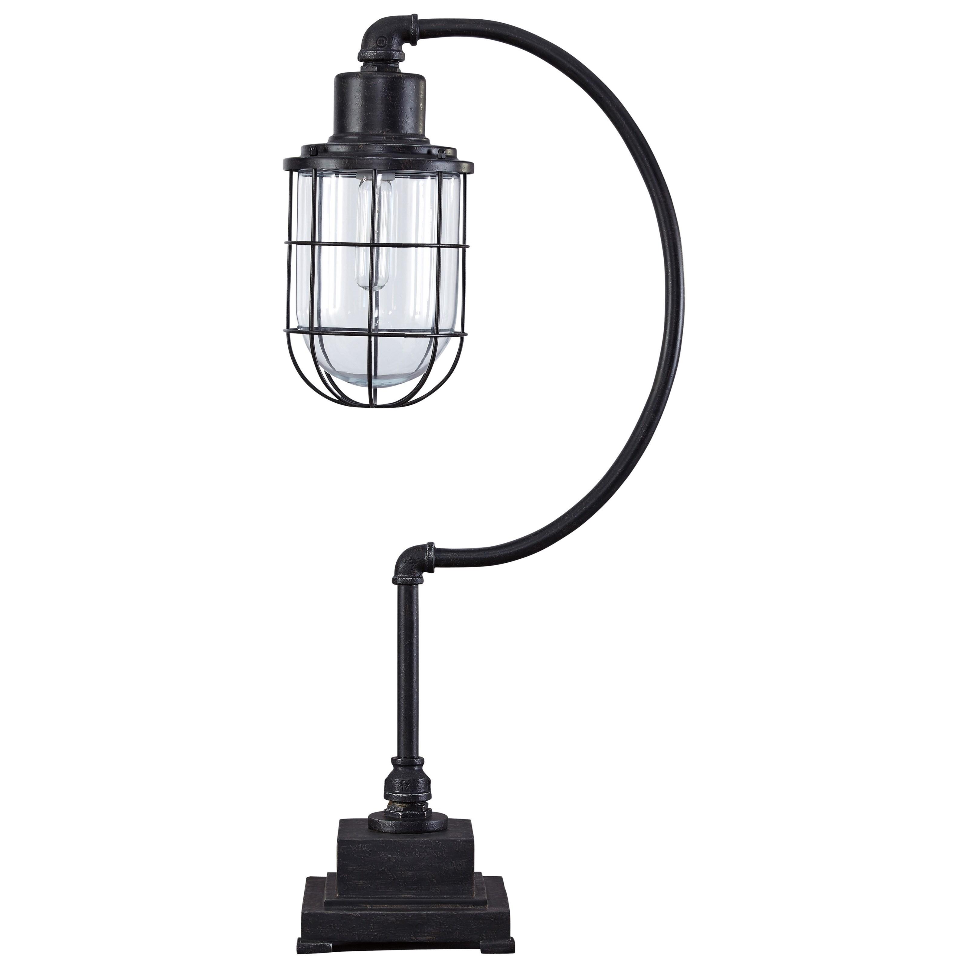 Jae Antique Black Metal Desk Lamp