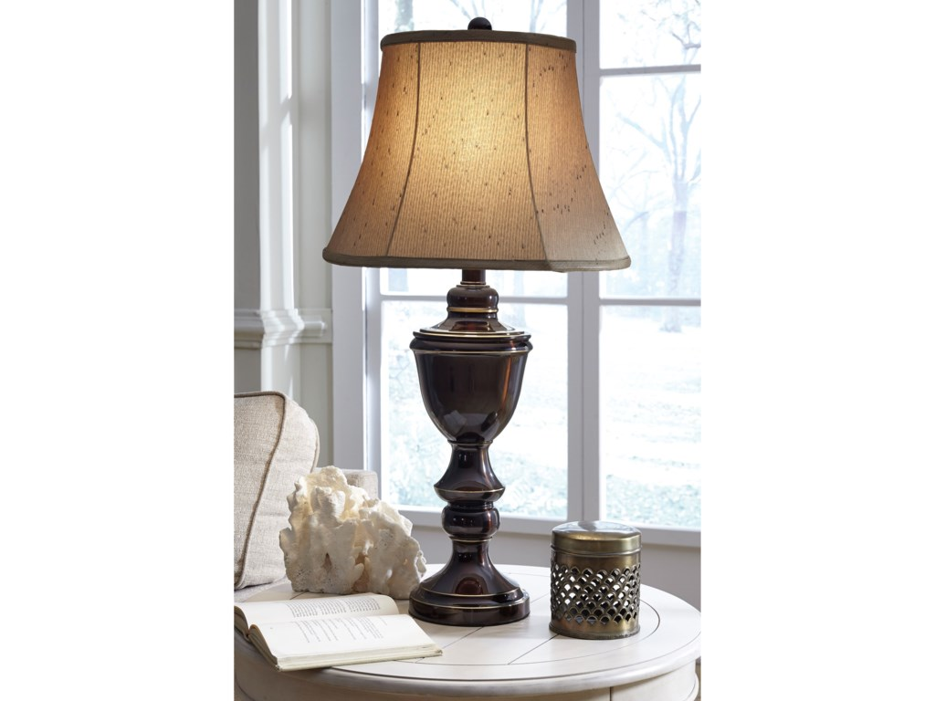 Signature Design by Ashley Lamps - Traditional ClassicsSet of 2 Glyn Metal Table Lamps