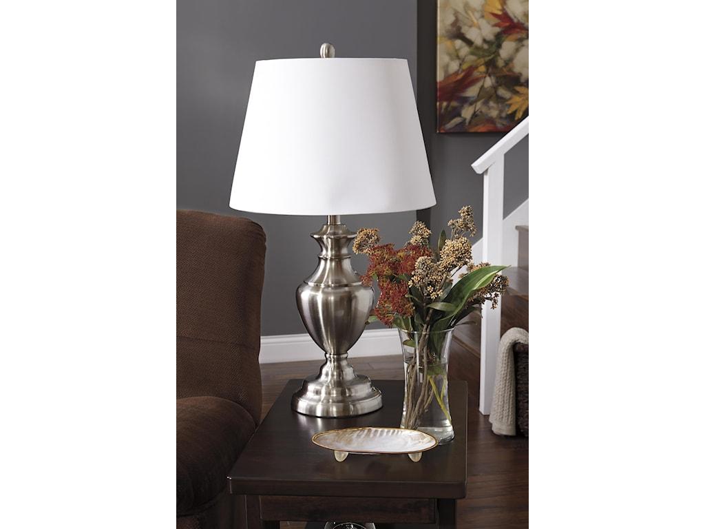 Ashley (Signature Design) Lamps - Traditional ClassicsSet of 2 Takoda Metal Table Lamps