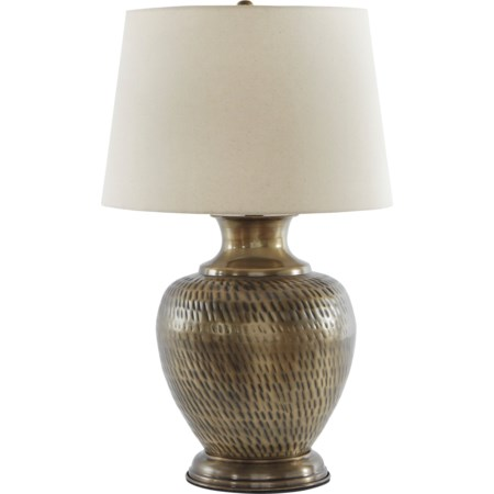 Eviana Antique Brass Metal Table Lamp