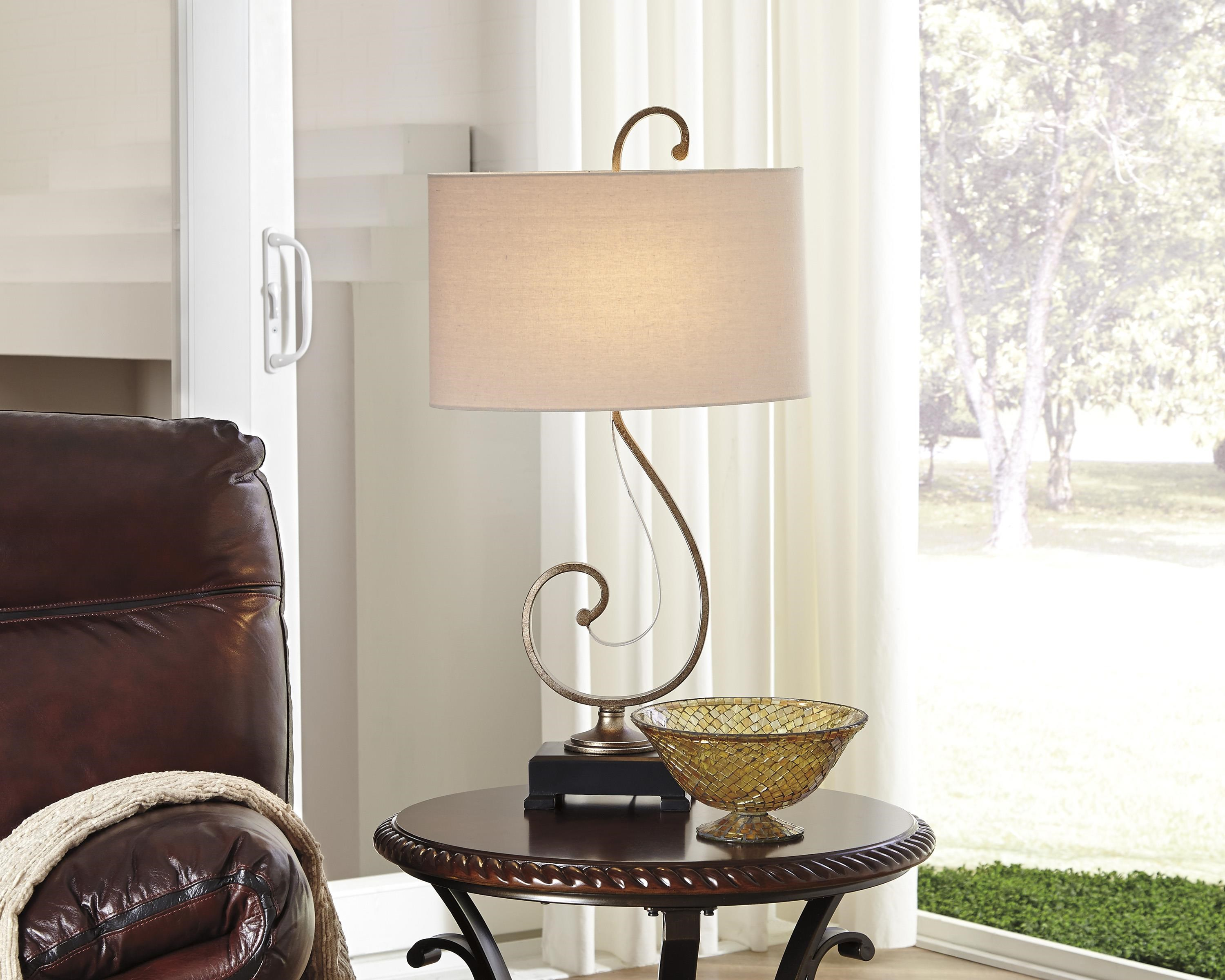 ... Signature Design By Ashley Lamps   Traditional ClassicsTahir Metal  Table Lamp