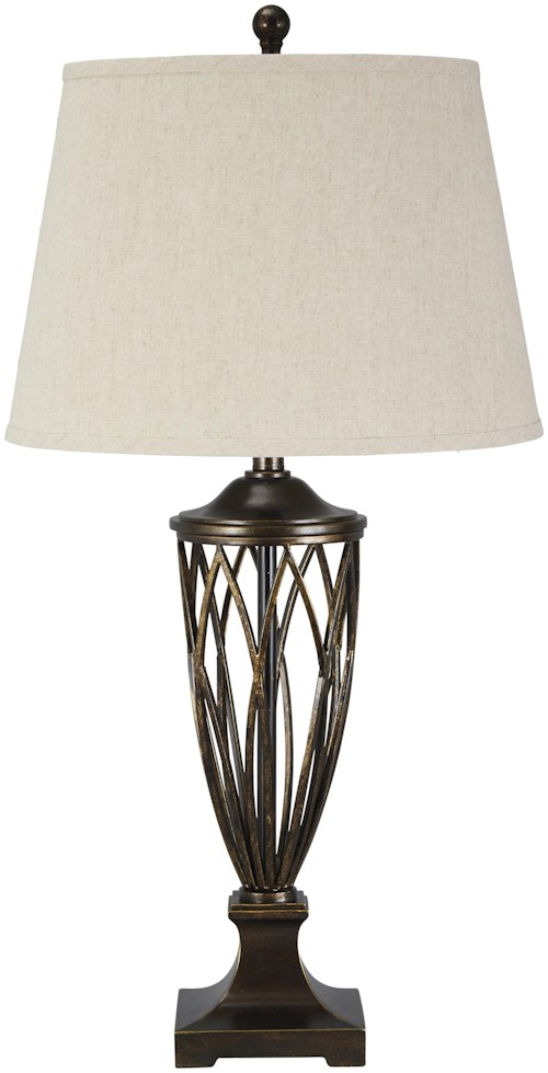 Signature Design by Ashley Lamps - Traditional Classics Makai Poly Table Lamp