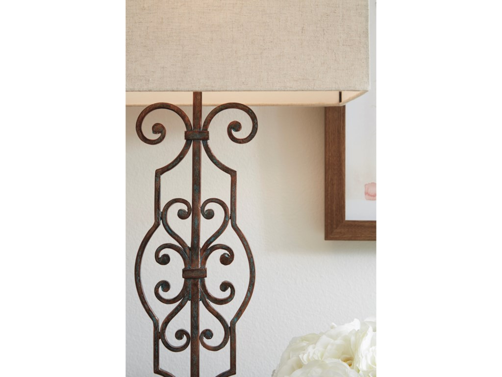Signature Design by Ashley Lamps - Traditional ClassicsCalidora Antique Copper Metal Table Lamp