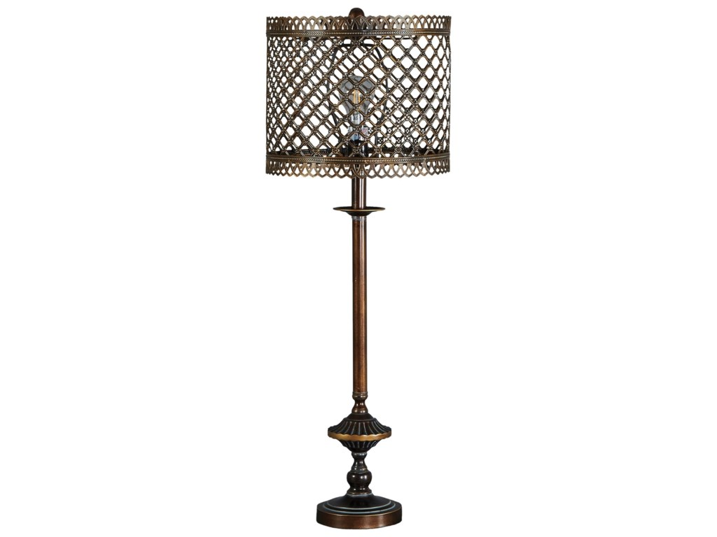 Signature Design by Ashley Lamps - Traditional ClassicsRodolf Antique Brass Finish Metal Table Lamp