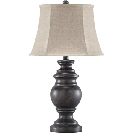 Set of 2 Leonadra Antique Black Table Lamps
