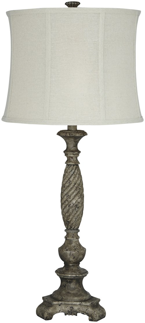 Signature design by ashley lamps traditional classics alinae poly table lamp