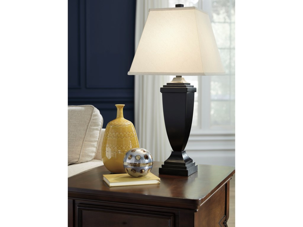 Signature Design by Ashley Lamps - Traditional ClassicsSet of 2 Amerigin Poly Table Lamps