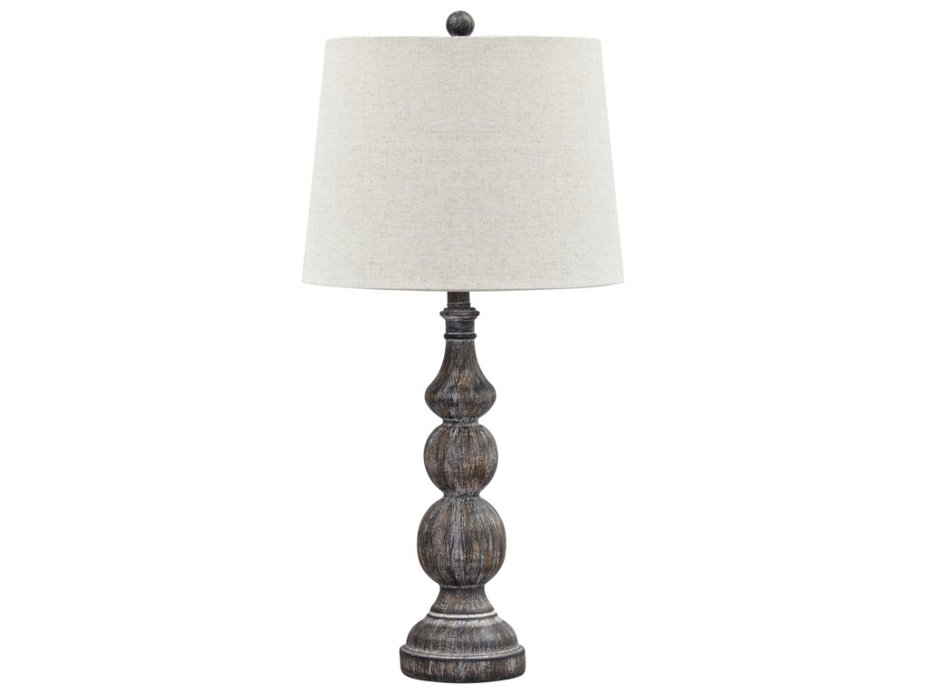 Signature Design by Ashley Lamps - Traditional ClassicsSet of 2 Mair Antique Black Poly Table Lamps