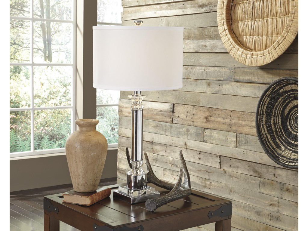 Signature Design by Ashley Lamps - Traditional ClassicsMarlon Metal Table Lamp