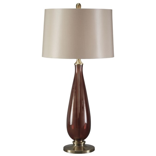 Signature Design by Ashley Lamps - Traditional Classics Sandera Glass Table Lamp