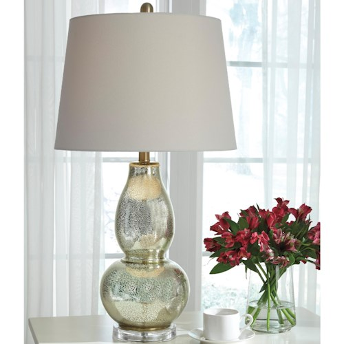 Signature Design by Ashley Lamps - Traditional Classics Laraine Glass Table Lamp