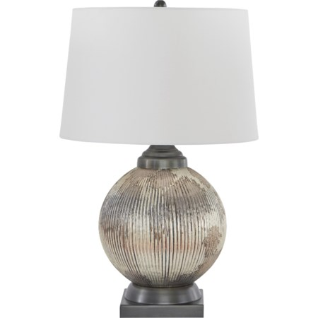 Cailan Silver/Bronze Finish Glass Table Lamp