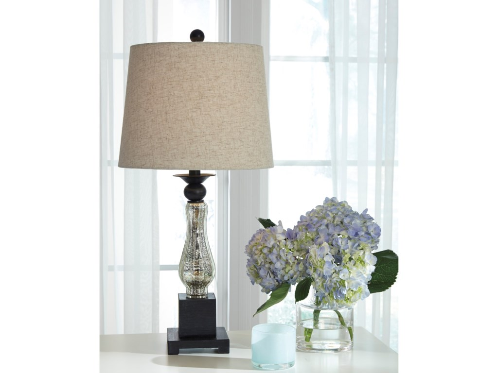 Signature Design by Ashley Lamps - Traditional ClassicsStephan Glass Table Lamp
