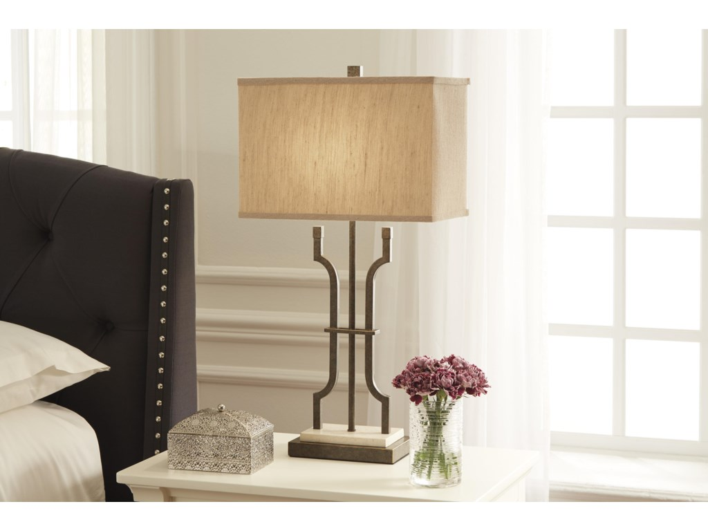 Ashley (Signature Design) Lamps - Traditional ClassicsMalik Metal Table Lamp