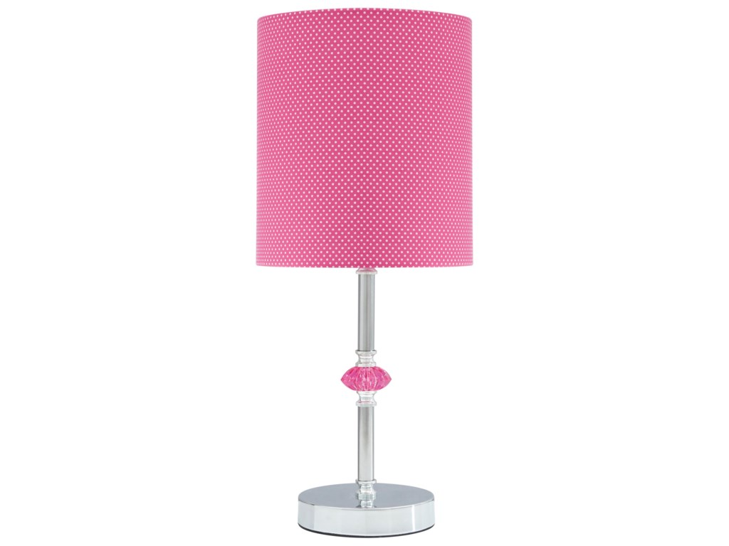 Ashley Signature Design Lamps Youthsommerville Pink Metal Table Lamp