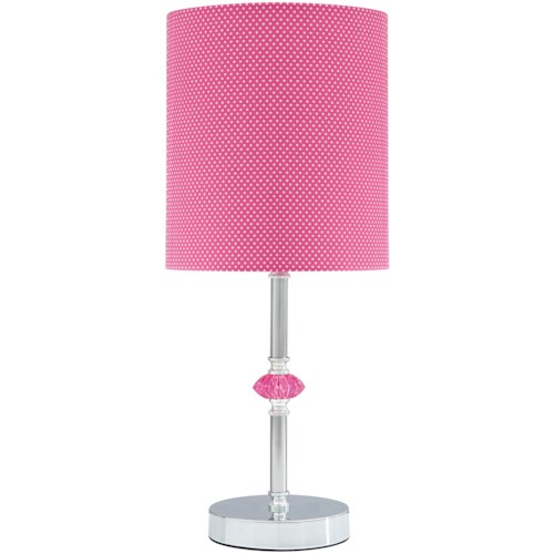 Signature Design by Ashley Lamps - Youth Sommerville Pink/Silver Finish Metal Table Lamp