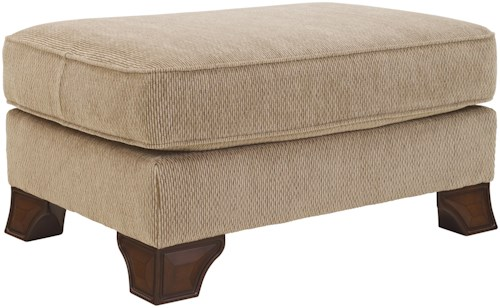 Signature Design by Ashley Lanett Ottoman with Shaped Wood Feet