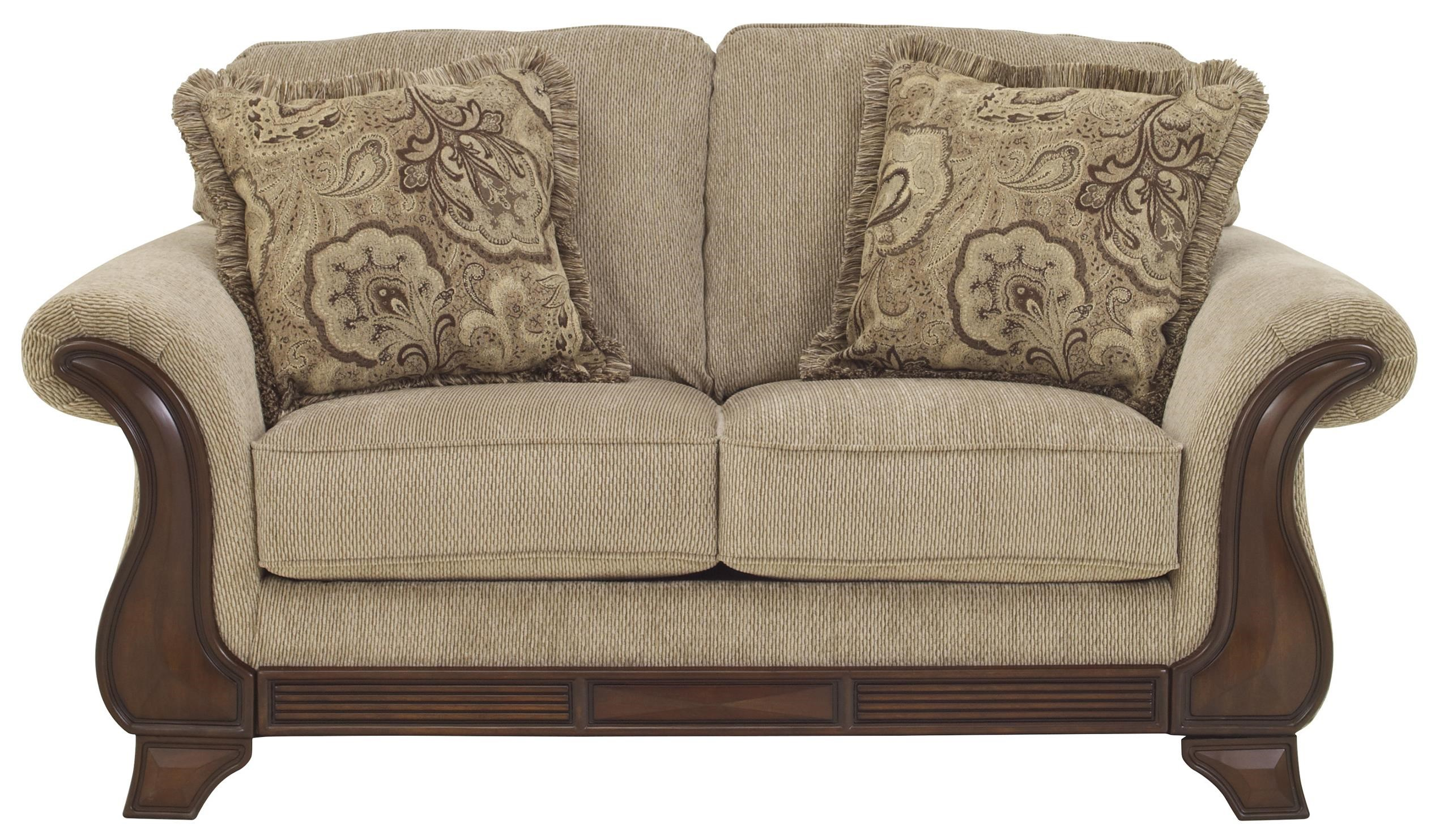 signature design by lanett loveseat with exposed