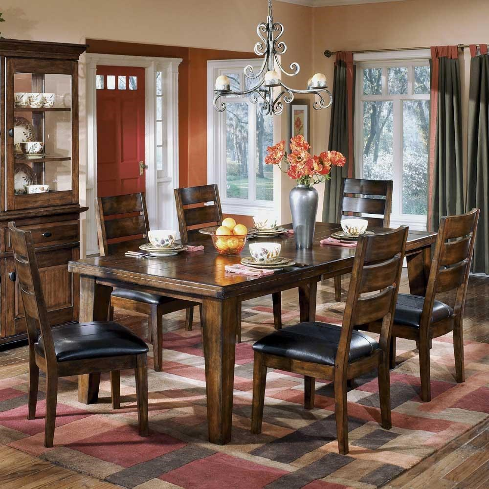 7 piece dining set with leaf dinette signature design by ashley larchmont7piece dining set larchmont 7piece miskelly