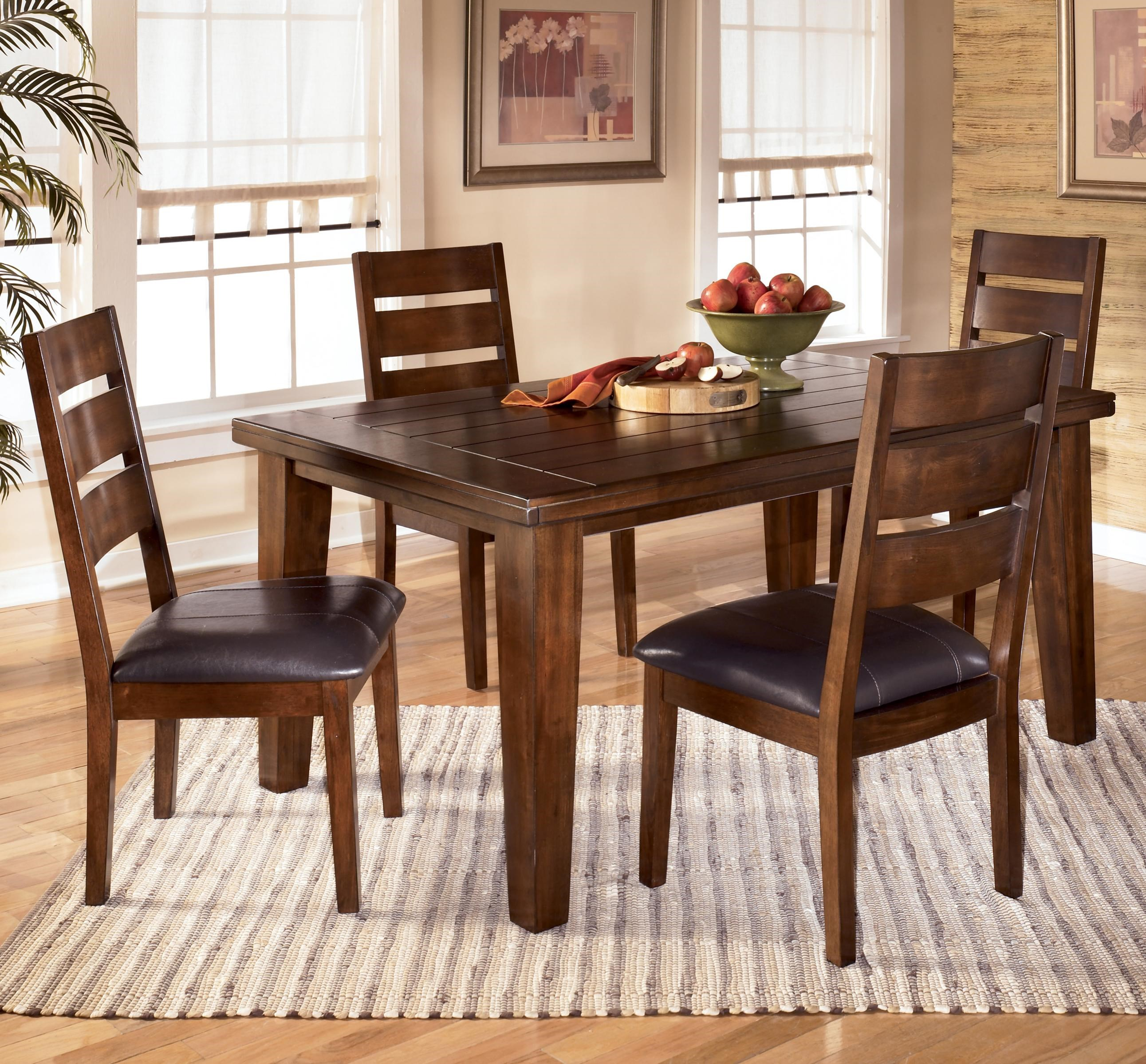 Elegant Signature Design By Ashley Larchmont 5 Piece Rectangular Dining Table Set