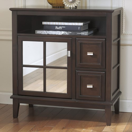 Signature Design by Ashley Larimer Console Table/TV Stand with Mirror Door