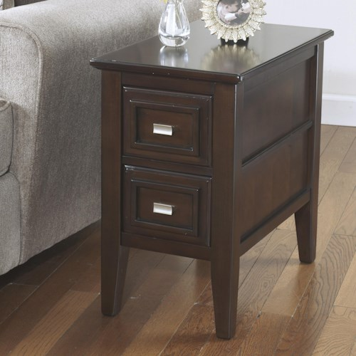 Signature Design by Ashley Larimer Chairside End Table with 2 Drawers