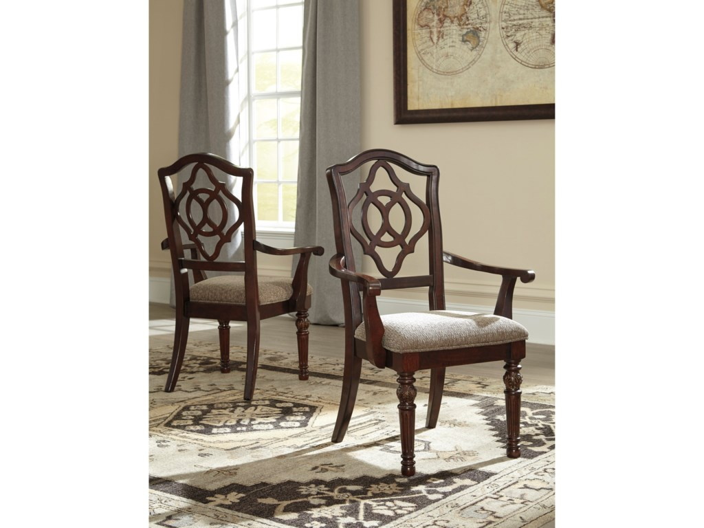 Ashley (Signature Design) LeahlynDining Upholstered Arm Chair