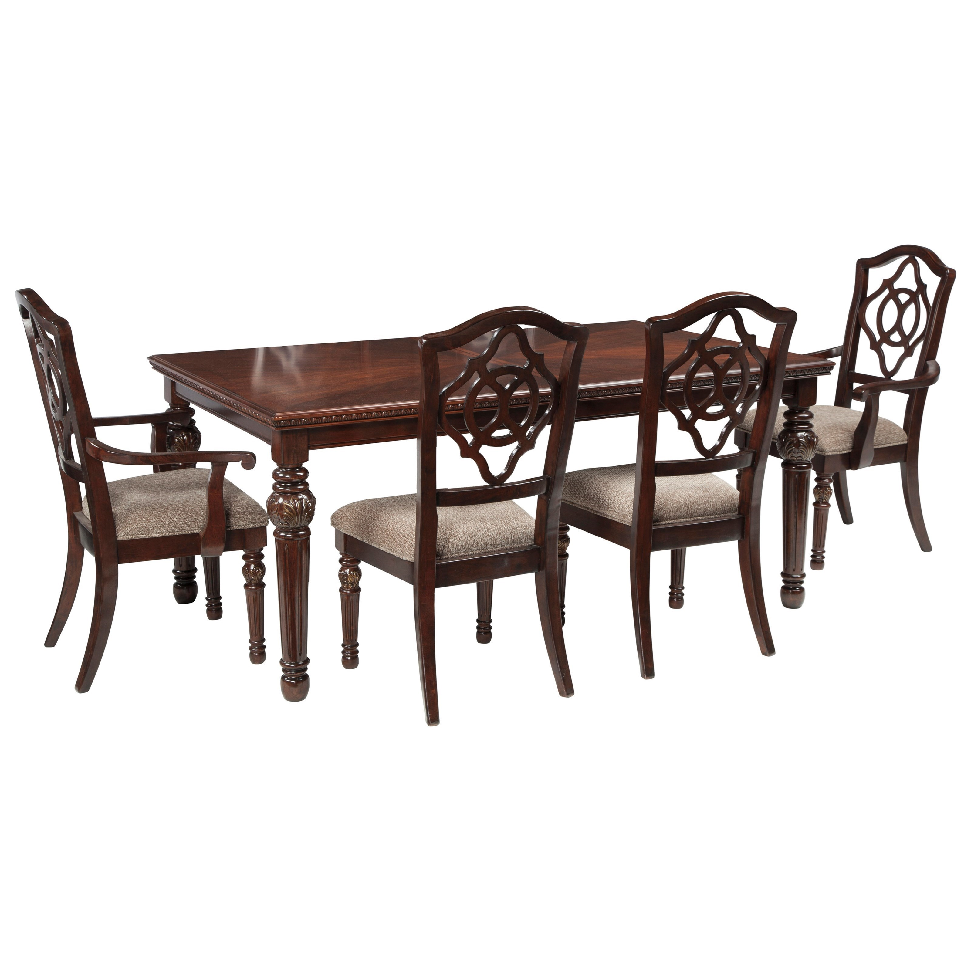 Signature Design By Ashley Leahlyn5 Piece Rectangular Dining Table Set ...