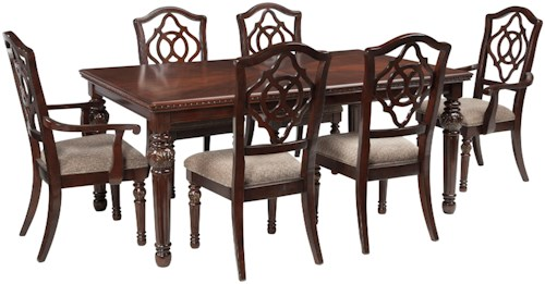 Signature Design by Ashley Leahlyn 7-Piece Rectangular Dining Table ...