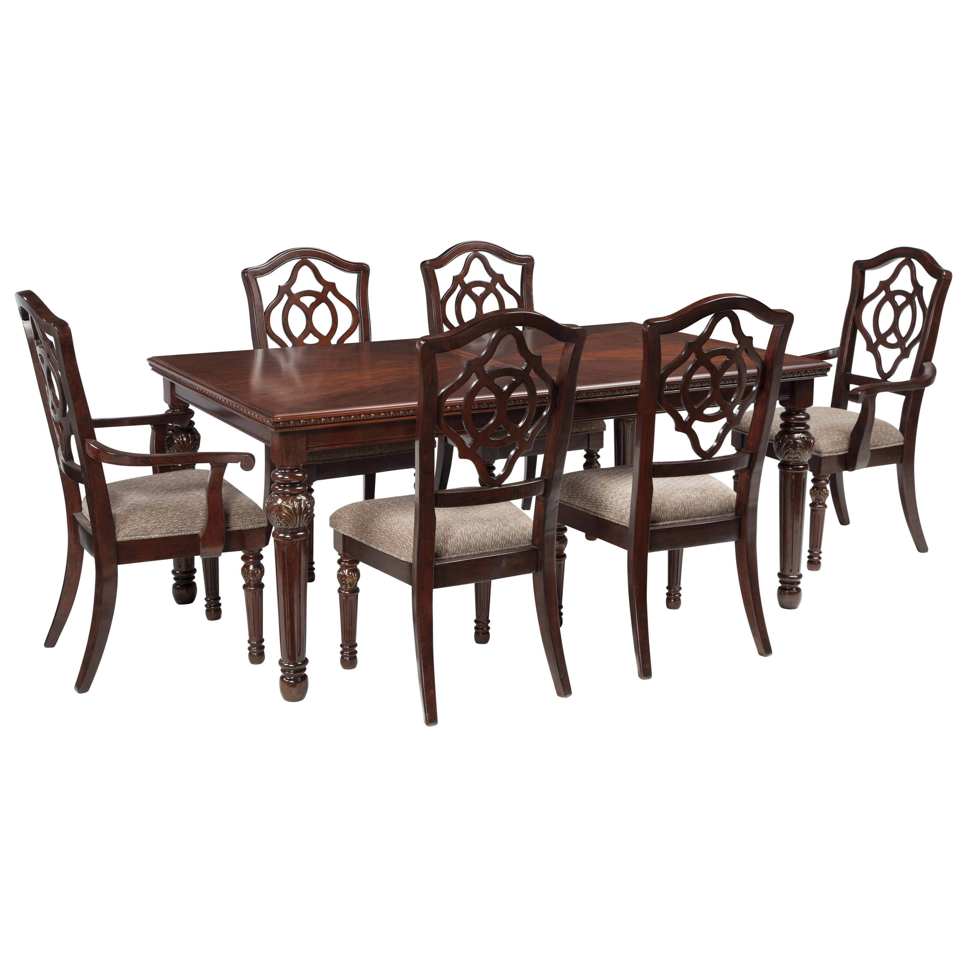 Signature Design By Ashley Leahlyn7 Piece Rectangular Dining Table Set ...