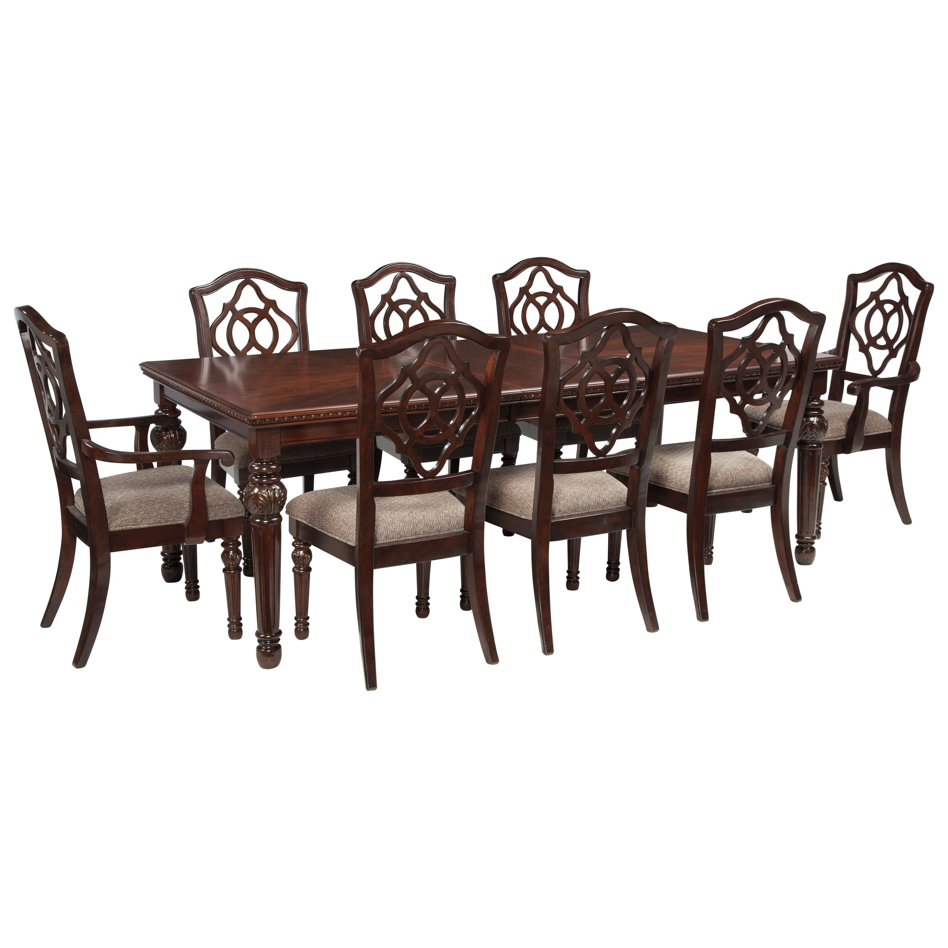 Signature Design By Ashley Leahlyn9 Piece Rectangular Dining Table Set ...