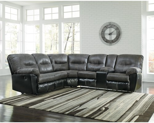 Signature Design by Ashley Leonberg Casual Two-Tone L-Shaped Sectional