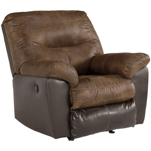 Signature Design by Ashley Leonberg Casual Two-Tone Rocker Recliner