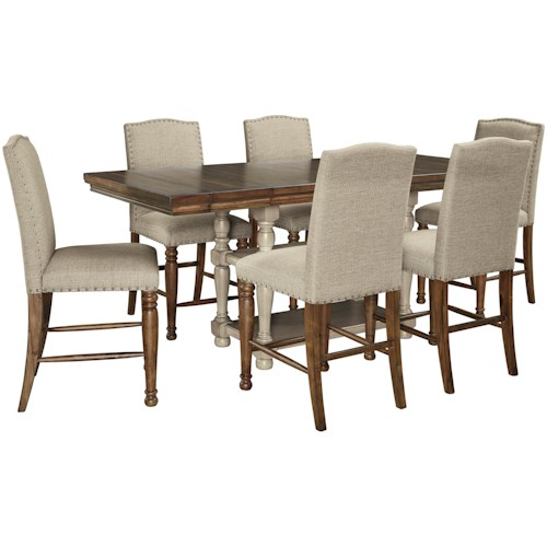 Signature Design by Ashley Lettner 7-Piece Counter Table Set