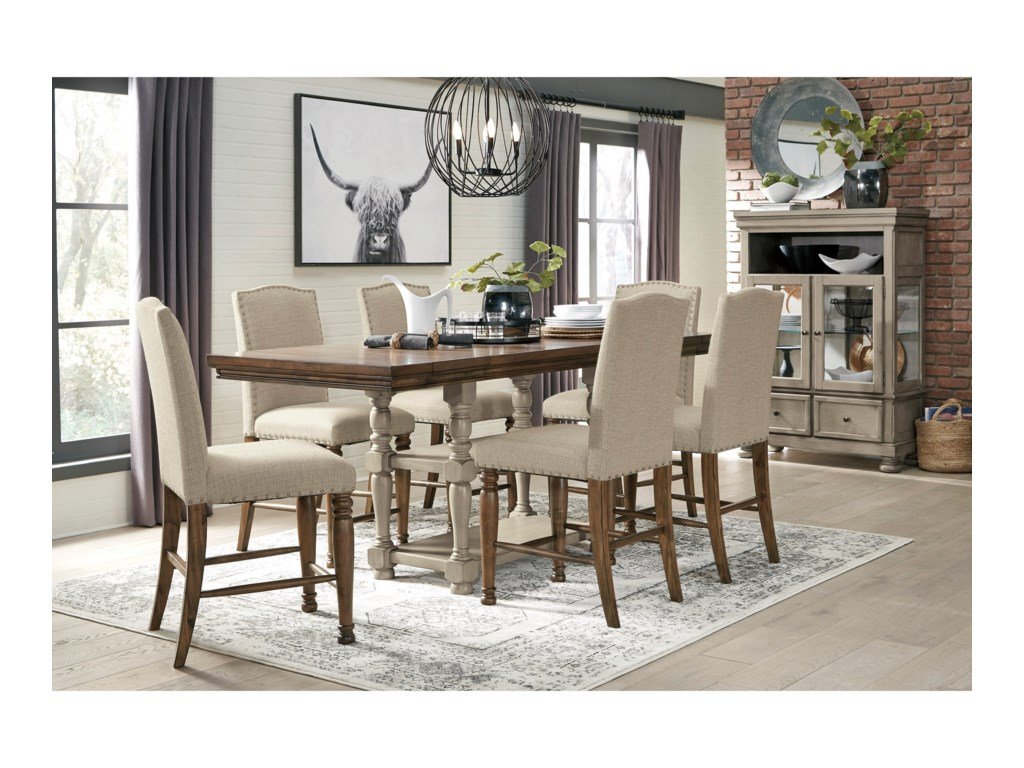 Signature Design by Ashley Lettner7-Piece Counter Table Set