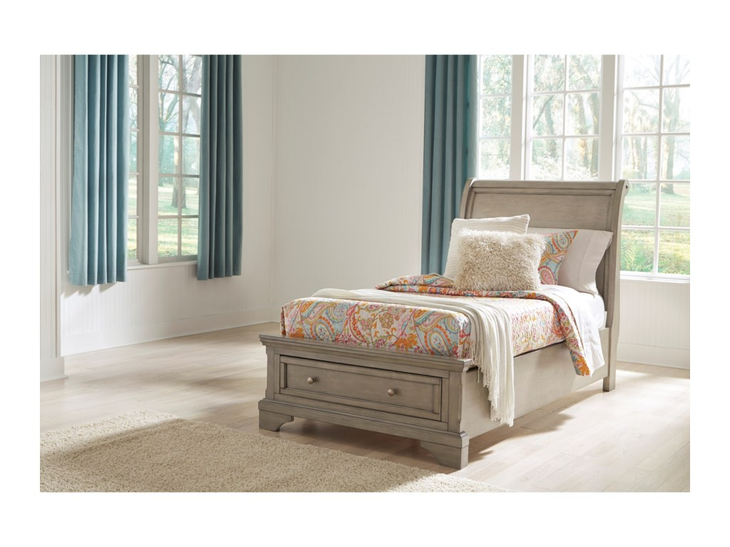Signature Design by Ashley LettnerTwin Sleigh Storage Bed