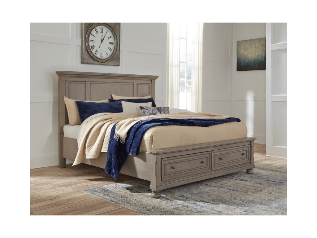 Signature Design by Ashley LettnerQueen Panel Bed with Storage Footboard