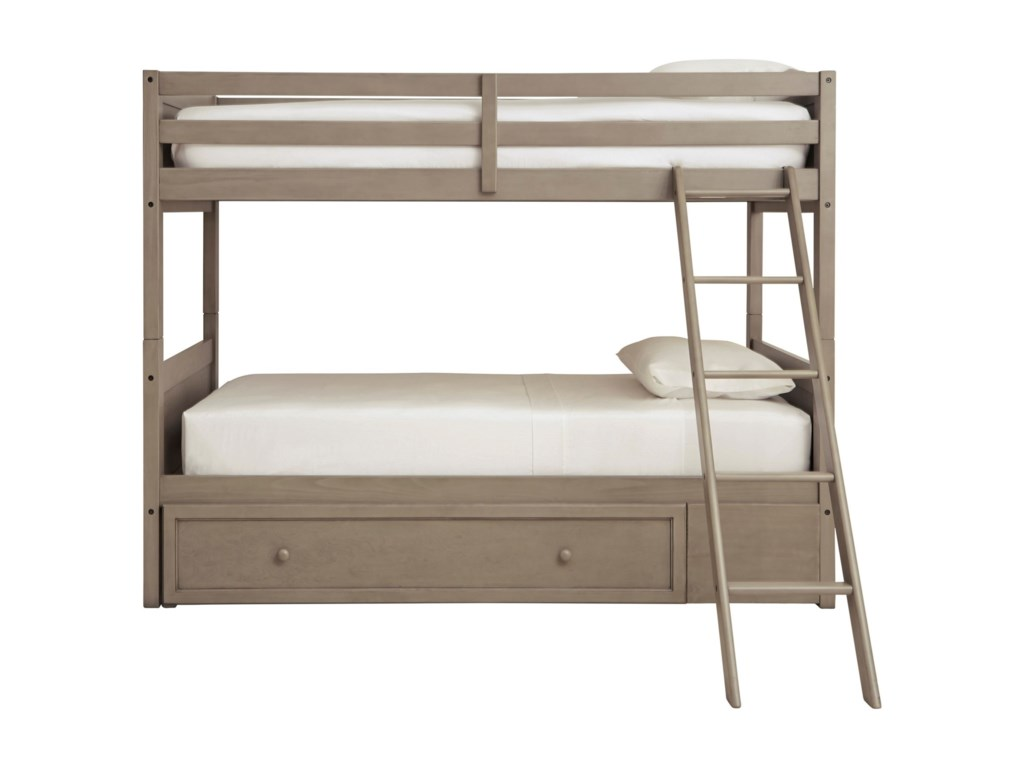Signature Design by Ashley LettnerTwin/Twin Bunk Bed w/ Ladder & Storage