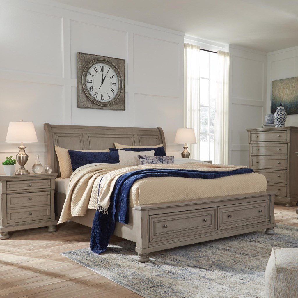 Signature Design Lettner Casual King Sleigh Bed With Footboard